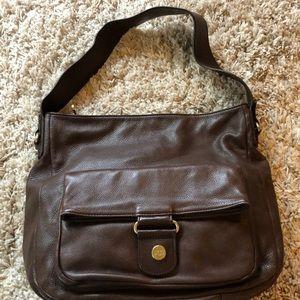Genuine leather UGG shoulder bag